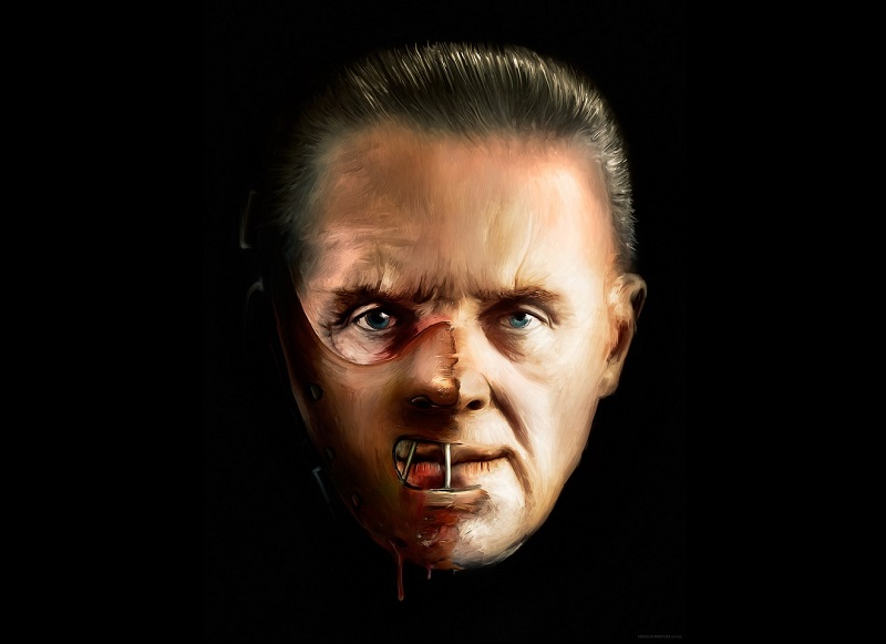 Antony Hopkins in Hannibal Lecter, il cannibale. Cannibalismo , Overton, matrimonio gay